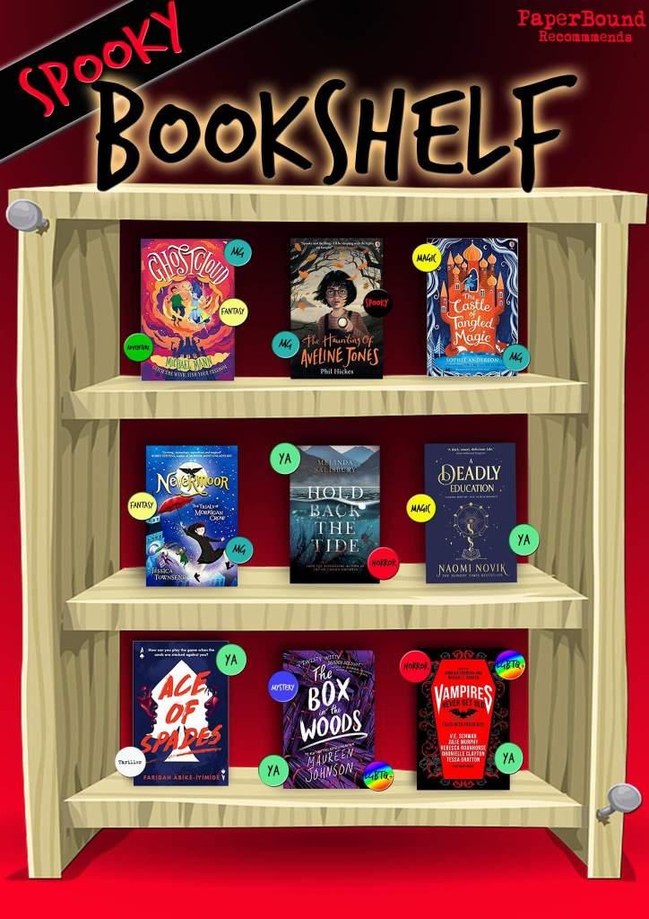 PaperBound Magazine's Spooky Bookshelf